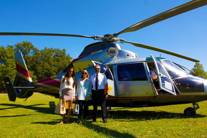 helicopter trip to italy countriside luxury private transportation