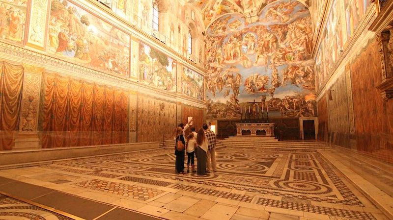 sistine chapel no crowds